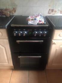 **Nearly New - Stoves Mini Range RICHMOND550E Electric Cooker with Ceramic Hob - Black **