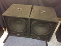"""Electro Voice Force 1 18"""" Bass Speakers"""