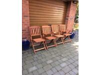 Garden Chairs with free Table top
