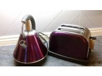 Brand new Purple Kettle and toaster