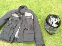 Motorbike jacket and helmet for sale