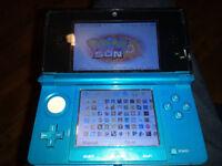 Aqua Blue 3DS with 50 Best 3DS Games - Mario/Zelda/Pokemon/Sonic/etc