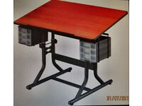 Hobby Craft Art/Drawing Table with Storage and Stool