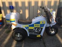 Electric ride on police bike