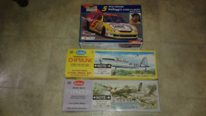 3 model kits for $30, 2 planes and one race car