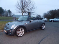 MINI COOPER S CONVERTIBLE LIMITED EDITION SAT NAV STUNNING GREY 2005 BARGAIN £2950 *LOOK*PX/DELIVERY