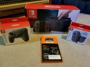 Nintendo Switch Mint Condition with extras