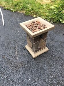 Propane fuelled fire pit