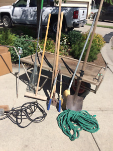 Garden tools and trolley