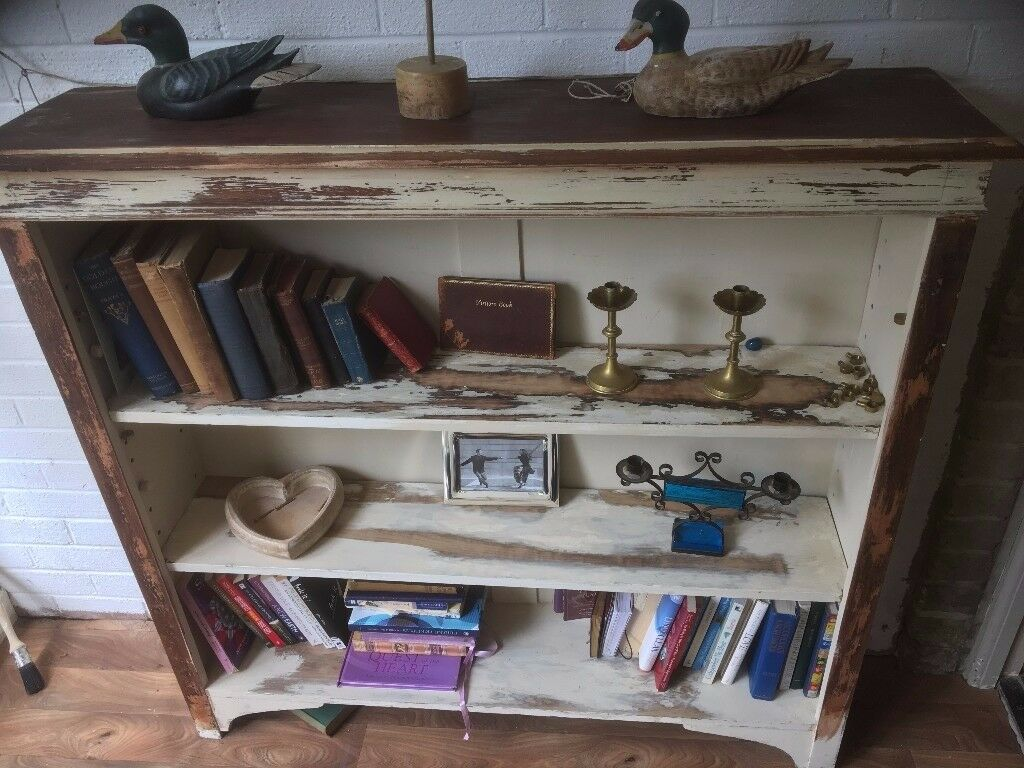 Bookcase Victorian Antique Oak Stripped Painted Distressed Largein Bournemouth, DorsetGumtree - Bookcase Antique Oak Stripped Painted Distressed Large beautiful very hard to come by dimensions are 122 cm width 117 cm height 30 cm width
