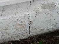 WET BASEMENTS - CONCRETE FOUNDATION CRACK REPAIRS -SAME DAY $179
