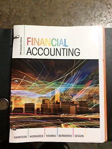 Financial Accounting - fifth Canadian edition