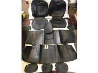PVC Leather Seat Covers - Protectors in Black for NISSAN Navara Second Generation 2004 to 2017