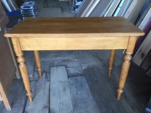 Antique Basswood Side Table