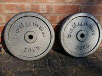 20KG BODYMAX CAST IRON WEIGHT PLATES