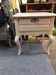 End table Chalk painted