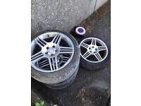 """4x 18"""" Mercedes 5x112 Alloy Wheels"""