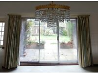 Curtains : A pair of Montgomery Pencil Pleat & Lined Lounge Curtains in Very Good Condition.