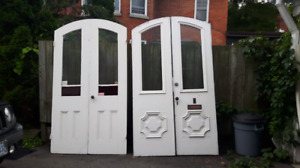 Antic set of double doors