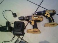 dewalt drills and charger and one battery full working order