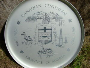 Commemorative Tray of Centennial for the province of Alberta