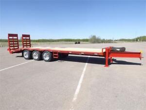 2017 32FT Heavy Duty Equipment Tag Trailer (66000LB GVW) Double
