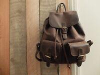 Brown Lakeland Full Grain Leather Backpack