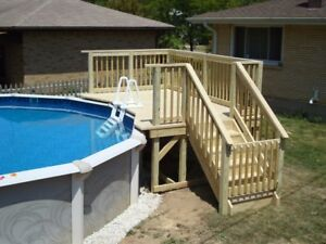Looking for small pool deck in good shape to be moved in pieces