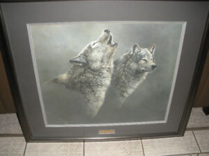 Framed Print – Wolf Song by artist Jorge Mayol