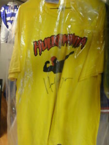 HULK HOGAN autographed Hulkamania shirt JSA new at Slapshot