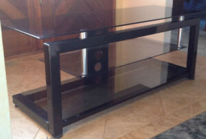 Plateau TV Stand 52X20 black Glass