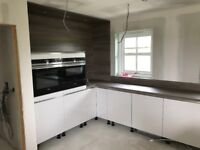 Kitchen fitter, laminate flooring, door, skirtings&facings, decking, bathrooms, wetwall