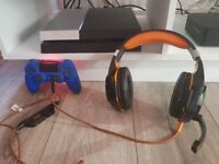 Playstation 4 with headset and fifa 17