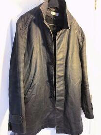 Used DKNY coarse finish coat, and wool coat, size 50