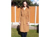 TopShop Woollen Wrap-over Coat Size 10