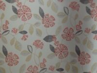 2 modern floral pattern roller blinds. As new.