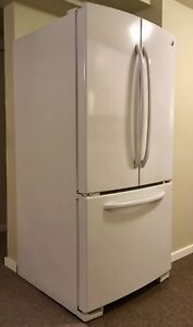 **GE white French Door Fridge**