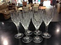 6 Galway crystal glasses