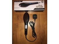 Professional hair straightening brush with warranty