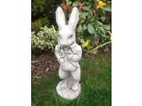 Stone garden mr rabbit statue, fantastic detail. New