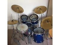 Metallic blue Drum Kit