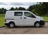 2014 14 NISSAN NV200 1.5DCI 5 SEAT CREW VAN - CHOICE OF 16 IN GROUP STOCK
