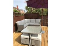 NEW. Grey wicker garden or conservatory