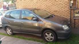 Nissan Almera Tino, Very low mileage with full service history