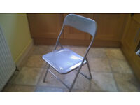 Office Chair Folding home office Metal chair home grey office or home shed