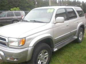 1999 Toyota 4Runner	Limited 4X4 Loaded / Leather