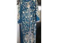 BEAUTIFUL BLUE SHADE 4 PIECE GOWN INDIAN/PAKISTANI - OFFERS