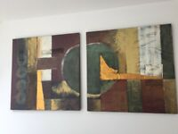 Canvas paintings set of 6 pcs for sale North West London
