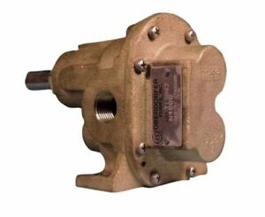 "BRASS GEAR PUMP 1/2-3/4"" SUCTION AND DISCHARGE"