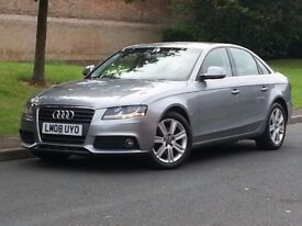 AUDI A4 2,0 TDI AUTO 2008 GREY LOW MILES FULL SERVICE HISTORY CAMBELT CHANGED DRIVES LIKE NEW MAY PX